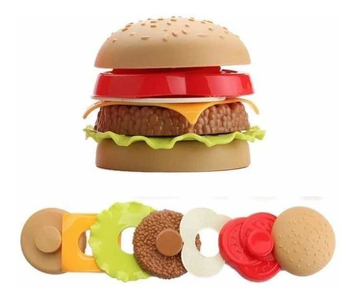 hamburguesa didáctica encastre juego rxl