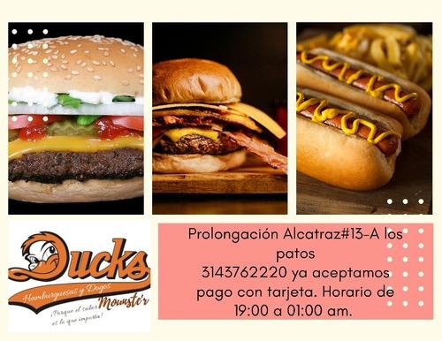 hamburguesas duck mounste'r