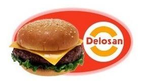 hamburguesas gigantes x 40 unidades, con pan + aderezo