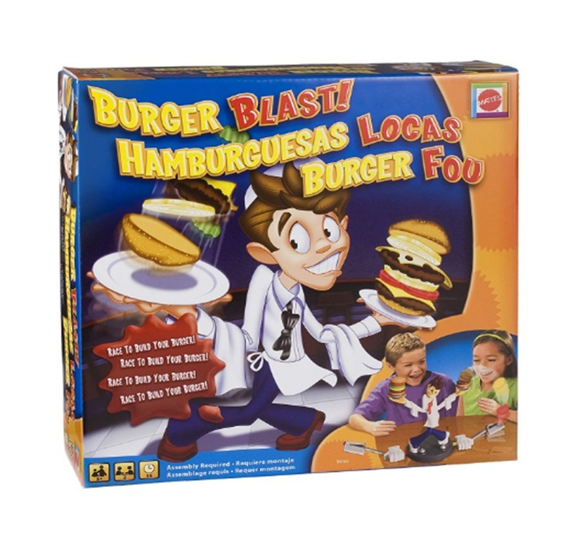 Hamburguesas Locas Original Mattel Juego De Mesa Para Ninos Bs