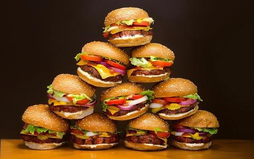hamburguesas x 40 gigantes 110 gr. + pan + aderezo