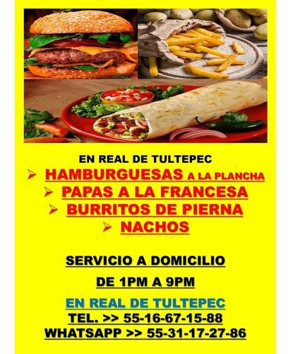 hamburguesas y burritos  en real de tultepec