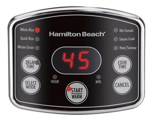 hamilton beach (37548) olla arrocera, 7 tazas sin cocer,