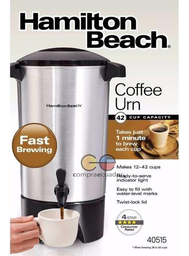 hamilton beach cafetera 45 tazas 5.6lt. luz indicadora 40515
