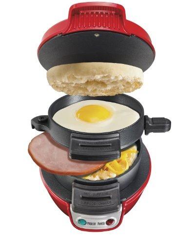 hamilton beach  desayuno sandwich eléctrico cafetera, rojo