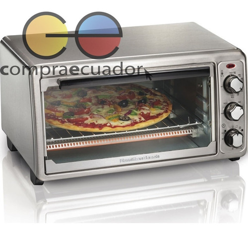 hamilton beach horno eléctrico pizza hasta 30cm 1440watts