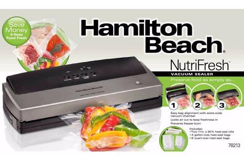 hamilton beach nutrifresh - maquina sellado al vacio