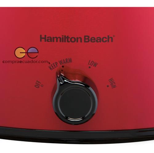 hamilton beach olla lenta 6 litros 4 ajustes fácil limpieza
