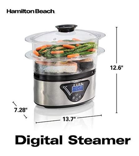 hamilton beach vaporera digital de alimentos