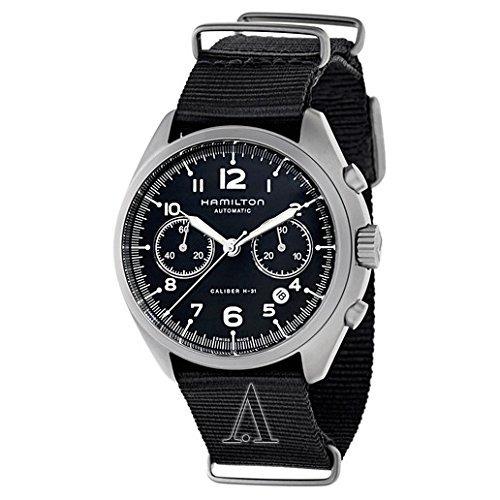 hamilton hombres h khaki aviación acero inoxidable reloj au