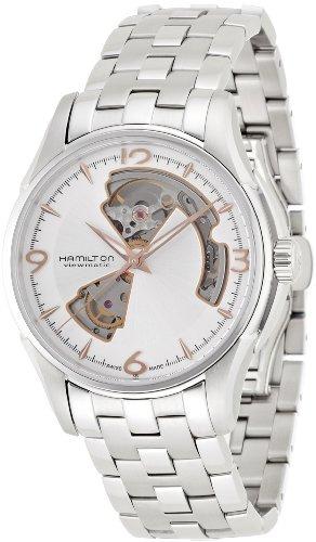 Hamilton Jazzmaster Reloj Abierto Plata H32565155 Corazón HIYeD92WE