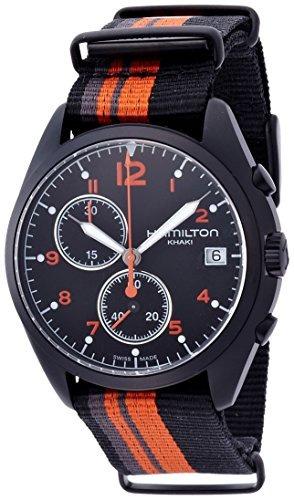 hamilton khaki aviation pilot pioneer chrono quartz reloj  c