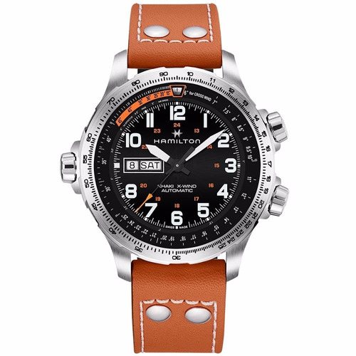 hamilton khaki aviation x-wind day date h77755533 ghiberti