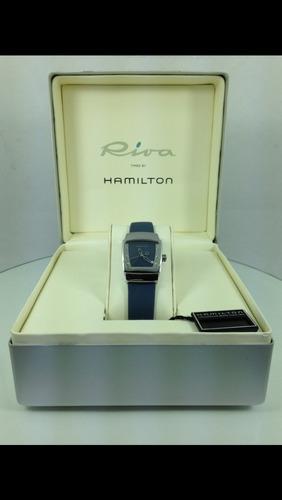 hamilton riva reloj mod 6329 caja de acero (inv 942)