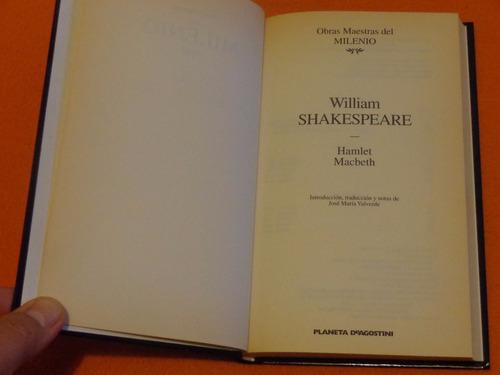 hamlet. macbeth. william shakespeare. editorial planeta.