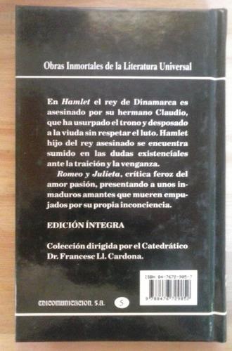 hamlet romeo y julieta william shakespeare cultura