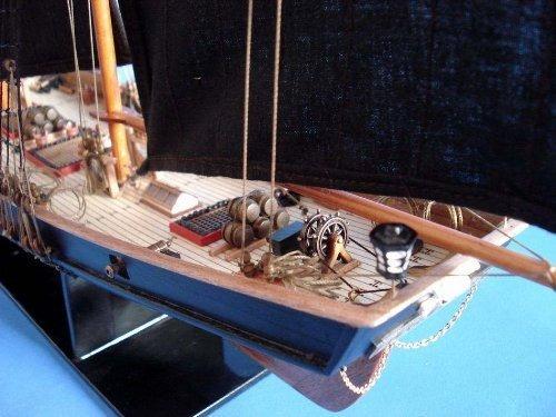 hampton nautical ben franklin black prince velero, edición