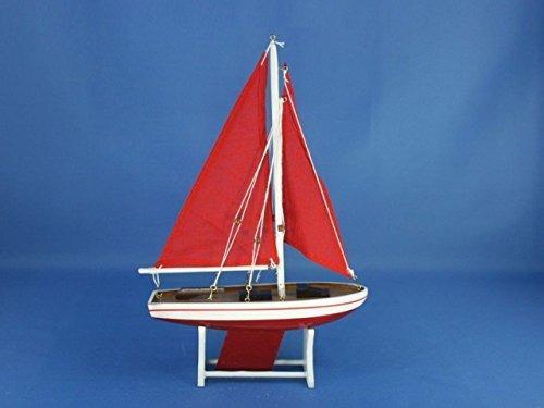 hampton náutico flota de 12 \rojo con velas rojas velero fl