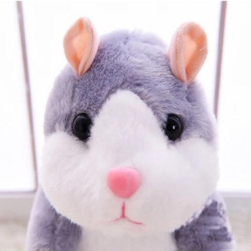 hamster que habla y se mueve talking pet colores tamaño 20cm