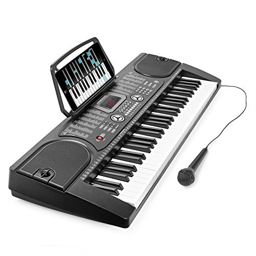hamzer 61-key digital music piano keyboard - portable electr