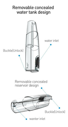 hanasco irrigador led duchador dental + 110 psi + 4 puntas