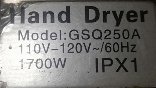 hand dryer secador de mano usado