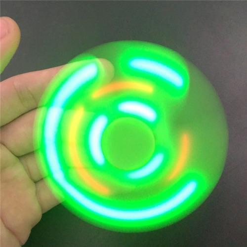 hand fidget spinner anti estrés luz led y audio bluetooth