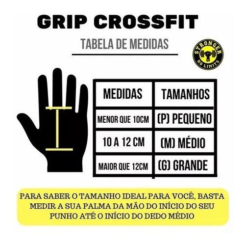 hand grip crossfit  pull up / luva protetor palmar  lpo