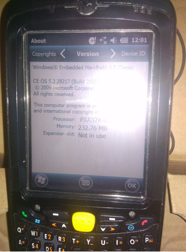 hand held / motorola mc55a0 - wifi, bluetooth,