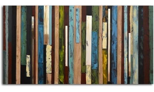 hand-painted 'vertical collage' pinturas en lienzo