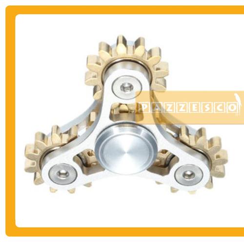 hand spinner aluminio 4 engranes + bolsa carbono engranajes