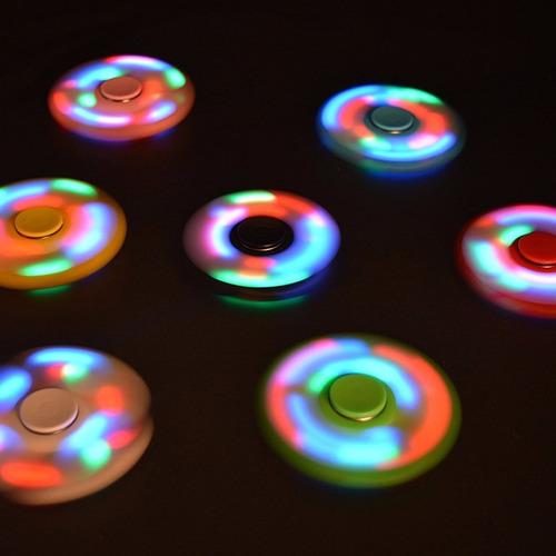hand spinner anti stress com led - max 10 unidades por envio