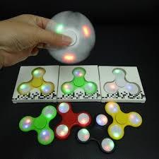 hand spinner con luz led fidget antiestres videcom
