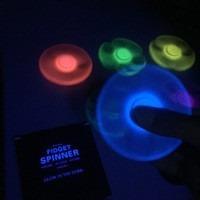 hand spinner fluorescente fidget spinner 4 baleros