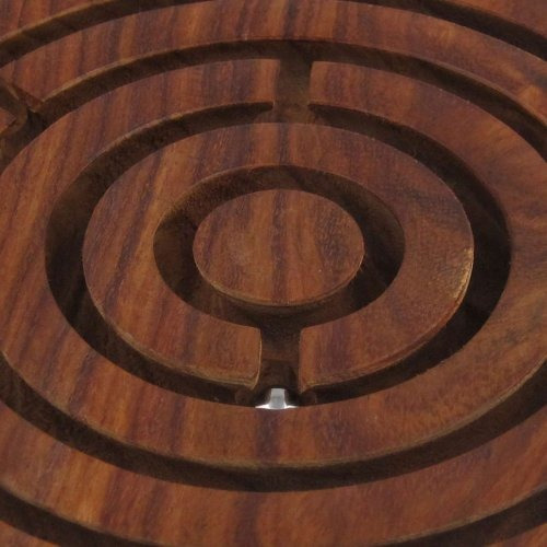 handcrafted indian labyrinth ball ball maze puzzle game - de