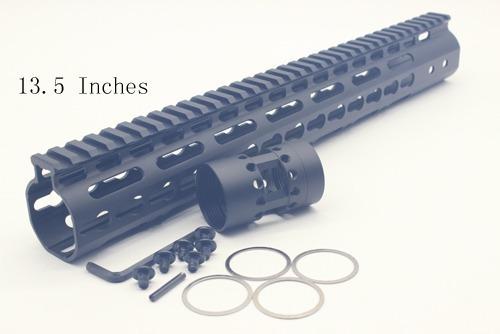 handguard 13,5'' polegadas aeg - m4 m16 airsoft trilho
