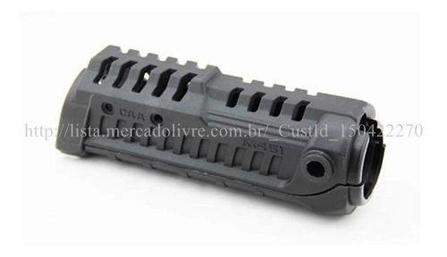 handguard tático caa m4s1; m4/ m16; airsoft paintball; preto