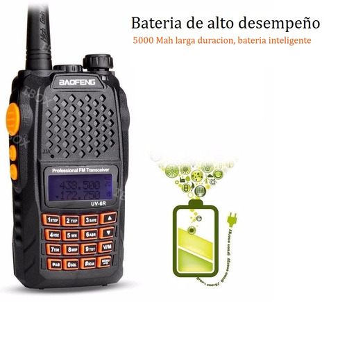 handie baofeng bibanda uv-6r 7 w bateria 5000 mah