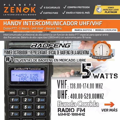 handie baofeng uv-82 5 watts uhf vhf recargable manos libres