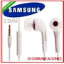 Audifonos Handsfree Samsung S2 S3 S4 Mini Note Tab Tipo Orig