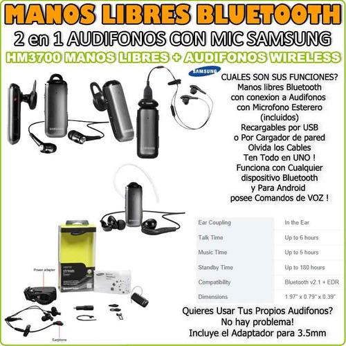 handsfree samsung hm3700 bluetooth wireless headset stereo