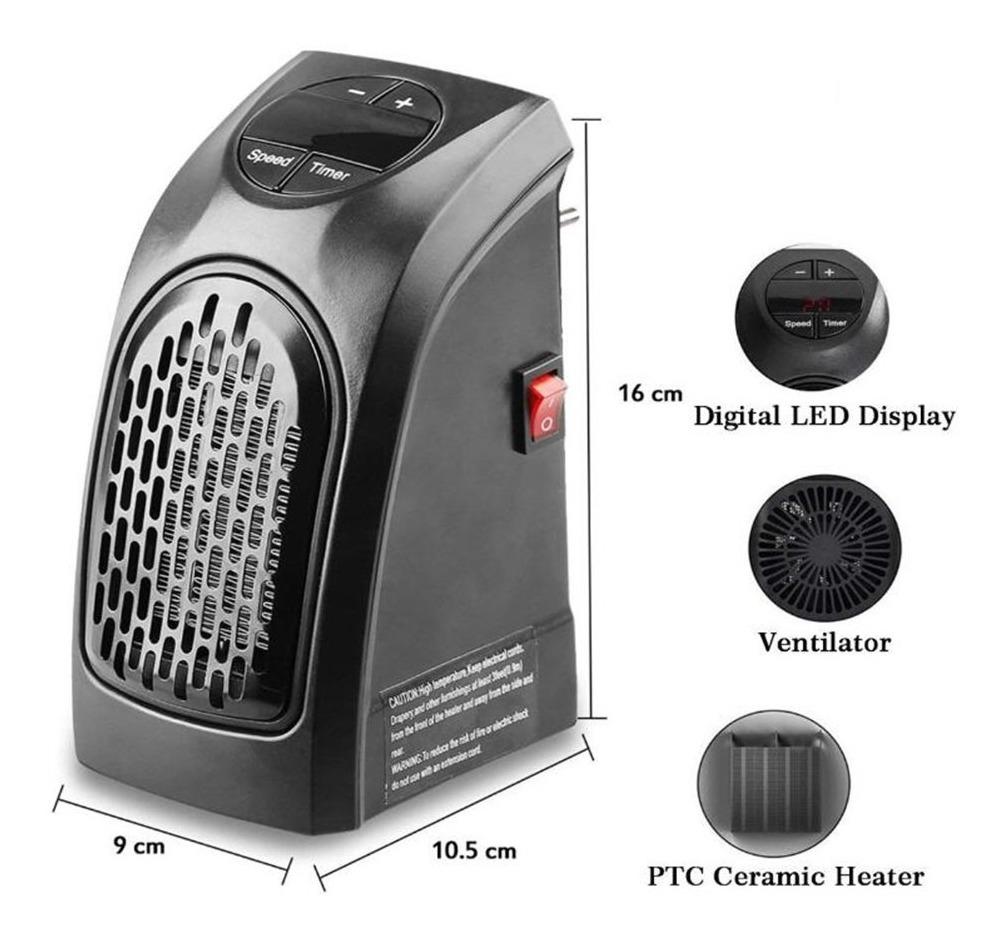 Handy Heater Calefactor portátil de Pared de 500 Watts