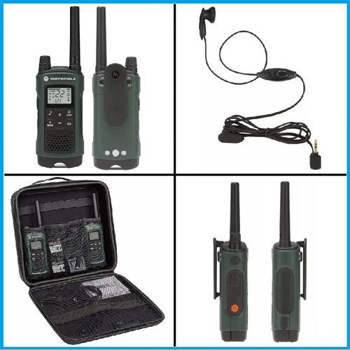 handy motorola walkie talkie t465 + manos libres + maletin