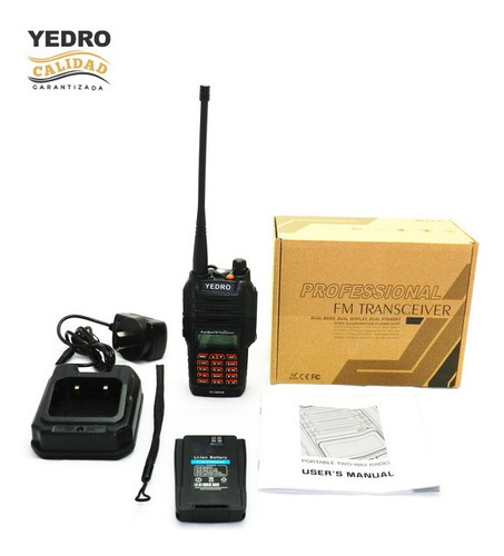 handy yedro yc-168vur dualband - sumergible para bomberos