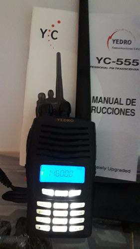 handy yedro yc 555  vhf  135 a 174 mhz  lagoscomunicaciones