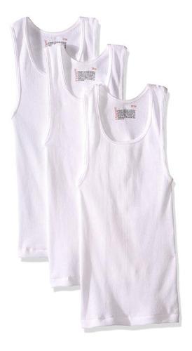 hanes camiseta para niño comfortsoft p3-blanco