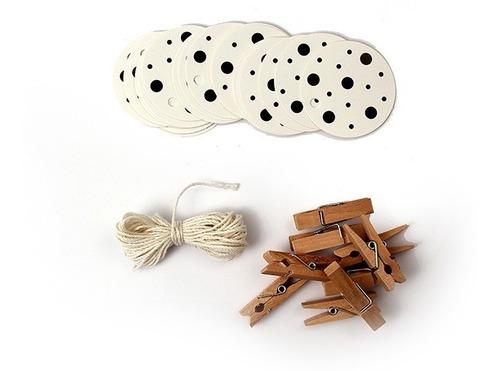hang tags tarjetas con diseño, pack 24 uni + 25 mini broches