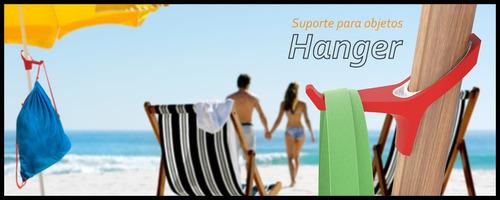 hanger pendurador para guarda sol ombrelone - porta objetos