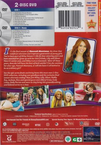 hannah montana forever temporada 4 cuatro importada dvd