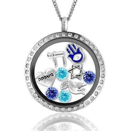 hanukkah regalos! la moda collares de la joyería judaica en